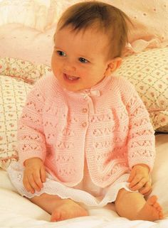 baby jumper vintage knitting pattern PDF instant by Ellisadine