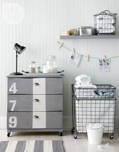 IKEA's Tarva dresser gets a makeover with some number embellishments #home #decor