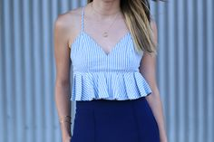 Forever 21 ruffle crop