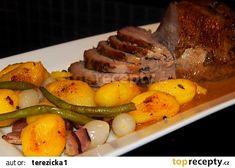 Telecí pečeně z pomalého hrnce Pot Roast, Steak, Pork, Beef, Ethnic Recipes, Carne Asada, Kale Stir Fry, Meat, Roast Beef