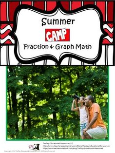 Price $3.00 Summer Camp Math concerns basic math skills. Lessons such as Casies Group Camping Items Graph Questions, Camp School & Wilderness Fraction Math involves bar graphs and fractions.  Lesson activities can be completed as a whole group or small group with the instructor using adobe reader and a SmartBoard, white board, projector or document camera as learners easily follow along.