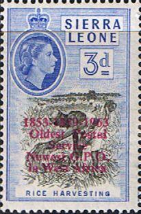 Sierra Leone 1963 Oldest Postal Service SG 273 Fine Mint Scott 251 Other African Stamps HERE