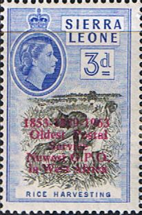 Sierra Leone 1963 Oldest Postal Service SG 273 Fine Mint Scott 251 Other African Stamps HERE