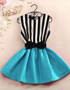 Striped vest dress