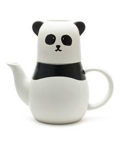 Look at this #zulilyfind! Panda Tea for One Teapot Set #zulilyfinds