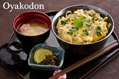 Oyakodon (Chicken and Egg Bowl) 親子丼. I'd leave the onions out. This is a dish I really like, and I want to get to the point where I can cook it well.