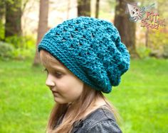 Easy Sweater Yarn Crochet Beanie Pattern