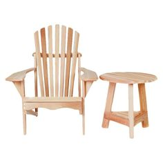 All Things Cedar Tripod 2 Piece Adirondack Seat Group