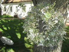 Cape fynbos wreath with added succulants