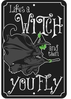 Life's a Witch and then You Fly Wizard of Oz Embossed Metal Tin Sign Halloween Quotes, Halloween Signs, Holidays Halloween, Halloween Crafts, Happy Halloween, Halloween Decorations, Halloween Witches, Halloween 2016, Wizard Of Oz Quotes