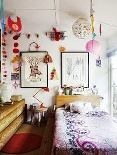 eclectic boho kid's room, so many pretty little details.  #estella #kids #decor