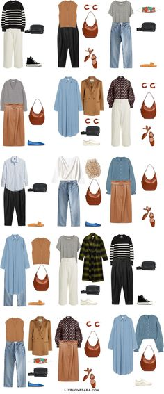 Summer Work Wardrobe, Spring Work Outfits, Casual Winter Outfits, Capsule Wardrobe Essentials, Fall Capsule Wardrobe, Spring Fashion, Autumn Fashion, Smart Casual Women, Fashion Capsule