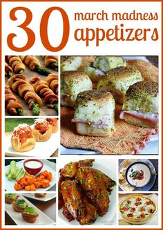 30 March Madness Appetizers via 2Wired2Tired