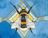Bumblebee totem A5 archival print