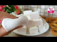 Vanilla Sugar, Powdered Sugar, Corn Starch, Gelatin, Marshmallow, Food Art, Feta, Icing, Recipes