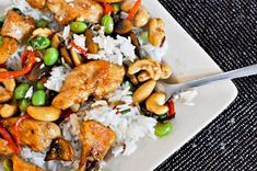 cashew chicken. YUM!