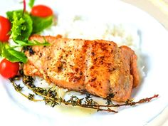Lemon garlic butter salmon is a perfect idea for a quick dinner recipe. It is easy to prepare and quick to cook. The result is fantastic Baked Salmon Recipes, Garlic Recipes, Fish Recipes, Seafood Recipes, Salad Recipes, Healthy Recipes, Healthy Food, Healthy Eating, Lemon Salmon
