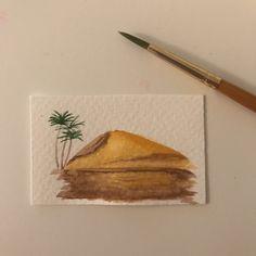 Mini watercolor painting, Sahara.