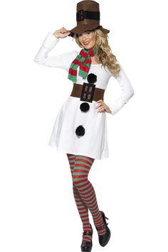 77a9806ebcc1f White Miss Snowman Fancy Dress Christmas Costume