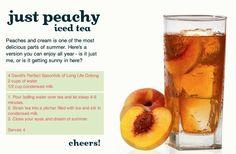 Just Peachy Iced Tea by DAVID'sTEA, via Flickr Juice Drinks, Smoothie Drinks, Smoothies, Tea Drinks, Beverages, Cocktails, Davids Tea, Fancy Drinks, Summer Drinks