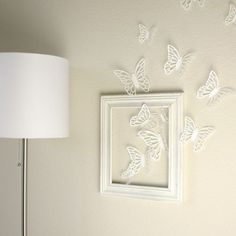Good Ideas For Wall Art.. Some Butterflies need to be in color. Perfect for a little girls room