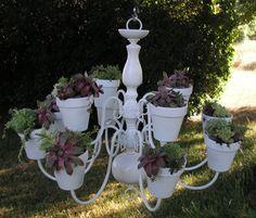 Gorgeous White Plantelier by Gardenspire on Etsy