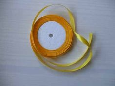 yellow satin ribbon 1cm 22 metres £1.50