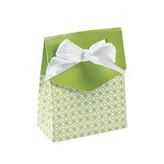 Lime Green Tent Favor Boxes With Bow - OrientalTrading.com