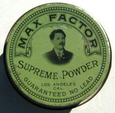 1920's Max Factor Supreme Powder