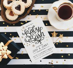 Itu0027s A Baby Bash Foil Pressed Baby Shower Invitati. Shower The Mama To Be  In A Little Glitz + Glam With A Black, Gold, And White Baby Shower Theme!