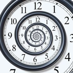 Try watching the clock with the Time Spiral wall mural from Eazywallz.com. While it may...