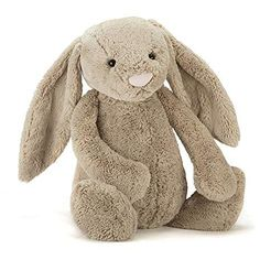 Buy Jellycat Bashful Beige Bunny Soft Toy - Find a superb collection of toys and games from Hamleys. We offer fast, efficient delivery on a wide range of toys and games, all available with premium gift wrapping! Big Bunny, Grey Bunny, Bunny Plush, Kids Store, Cuddling, Baby Gifts, Bunnies, Dinosaur Stuffed Animal, Rabbits