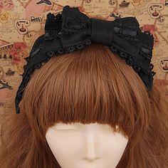 Handmade Black Lace Classic Lolita Headband