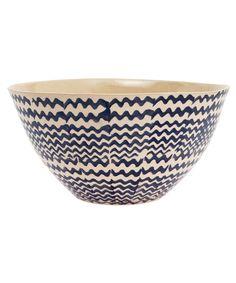 Dark Blue Retro Salad Bowl