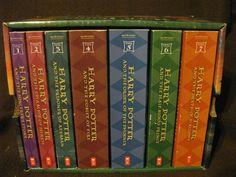 harri potter, books, boxes, potter seri, book 17, harry potter, childhood, box set, book series