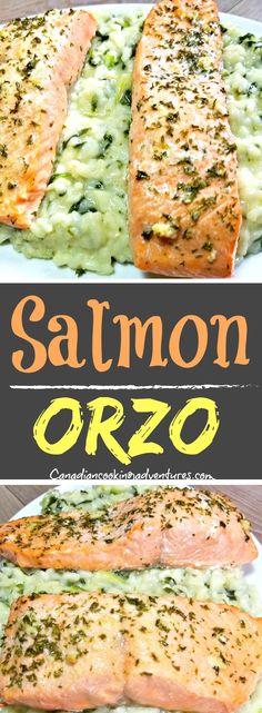 Salmon Orzo #pasta #