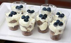 Lemon Blueberry Gingersnap Cheesecake Parfaits