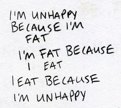 Ohhhh please! I'm fat because I like food... Not the healthiest of them either... And I'm not as active as I should be.