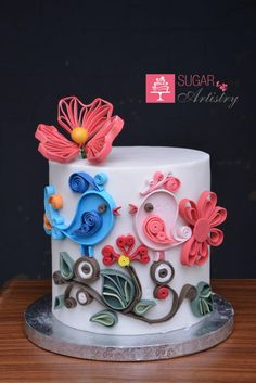 Quilled Cake Decor - Cake by Sugar Artistry Cakes by Shabana