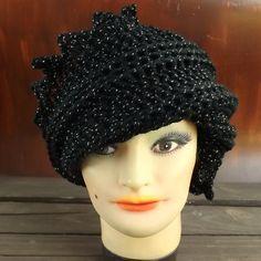 Crochet Hat Women Couture  LAUREN Beanie in by strawberrycouture, $35.00