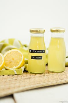 Zitronensirup Zitronen-Sirup Sirup Rezept Limonade Getränk Sommer