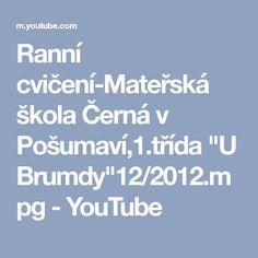 """Ranní cvičení-Mateřská škola Černá v Pošumaví,1.třída """"U Brumdy""""12/2012.mpg - YouTube Youtube"""