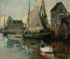 """Old Rockport,"" Anthony Thieme, oil on canvas, 25-1/8 x 30"", private collection."