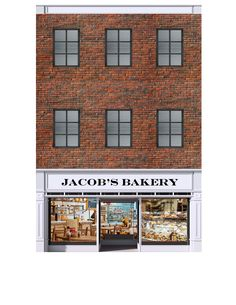"""SCENERY SHEETS - JACOB'S BAKERY DELUXE BUILDING KIT (O SCALE) This deluxe O scale building kit allow you to create a Main Street style storefront building 6"""" wide and up to 11"""" deep with two to four s"""