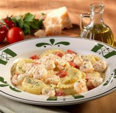 Four Cheese Stuffed Mezzaluna with Shrimp - had this tonight @ Olive Garden and I'm in love!