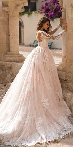 30 Best Lace Wedding Dresses With Sleeves Best Lace Wedding Dresses With Sleeves ★ lace wedding dresses ball gown illusion top back blush lussano bridal ★ See more: weddingdressesgui… Western Wedding Dresses, Elegant Wedding Dress, Perfect Wedding Dress, Wedding Dress Styles, Dream Wedding Dresses, Bridal Dresses, Bridal Gown, Blush Lace Wedding Dress, Lace Bride