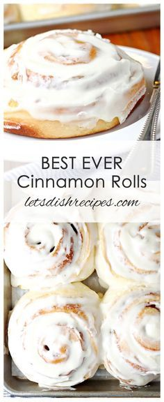 Best Ever Cinnamon Rolls Recipe: Huge fluffy cinnamon rolls with maple cream cheese frosting that stay soft for days. They really are the best ever! #bread #cinnamon