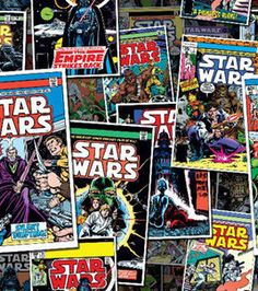 Purchase the Camelot Fabrics Star Wars Multicolor Comic Book Covers Cotton Fabric at Michaels. This Star Wars lightweight cotton fabric is perfect for quilting, seasonal craft and home décor accents. Anna Cattish, Star Wars Fabric, Fabric Stars, Star Wars Comic Books, Star Wars Comics, Marvel Comics, Comic Book Pages, Comic Book Covers, Sketch Manga