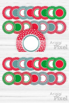 #Stars #X-Mas #Frame Clip Art, set of round frames with stars in red green blue for Christmas printables, commercial use http://etsy.me/2B9zY7W #supplies #red #christmas #kidscrafts #green #commercialuse #starsxmasframe #clipart #download