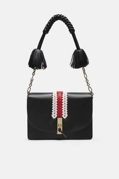 Altuzarra — Ghianda Shoulder Bag - Black with Embroidery